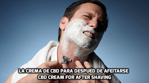 La Crema de CBD para después de Afeitarse